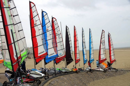 OPEN de FRANCE à Berck sur Mer et 5ème Grand Prix Avril 2016 - Blokart Team France