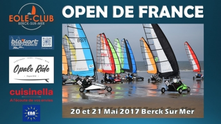 OPEN de FRANCE à Berck sur Mer et 4ème Grand Prix Mai 2017 - Blokart Team France